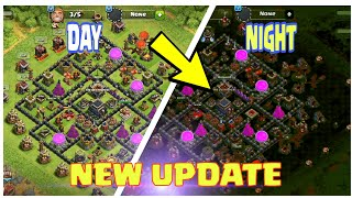 DAY AND NIGHT MODE IN CLASH OF CLANS (GAMEPLAY) | (IDEA/CONCEPT) | MAIN BASE UPDATE |