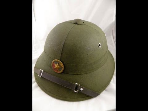 vietnam hat helmet viet cong vc vietcong army pith rare 1 north VN 7-7-2013