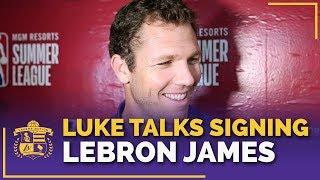 Luke Walton's Reaction To Signing LeBron James, Rajon Rondo & Lance Stephenson