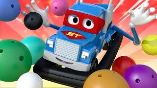 Tampon Kamyon - Süper Kamyon Carl araba şehrinde 🚚 ⍟ Çocuklar için çizgi filmler