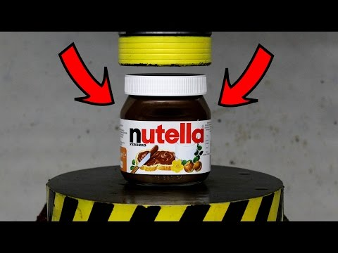 Thumbnail: EXPERIMENT HYDRAULIC PRESS 100 TON vs NUTELLA