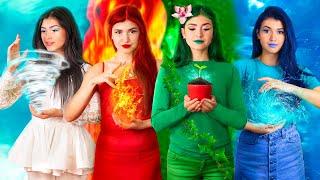 البنت النارية، البنت المائية، البنت الهوائية والبنت الترابية / كافية العناصر الأربعة