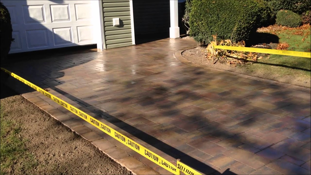 Driveway with Wet Look Sealer | Fine Design Landscaping | Long ...
