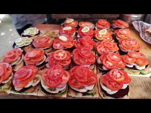FASTEST SANDWICH MAN | Amazing Cutting Skills | Indian Street Food