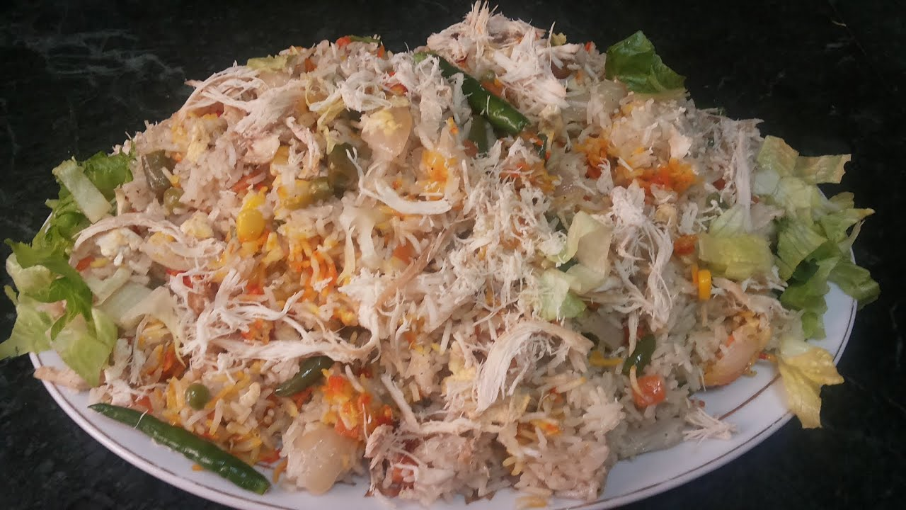 Chinese chicken vagetable rice cooking with fouzia youtube forumfinder Image collections