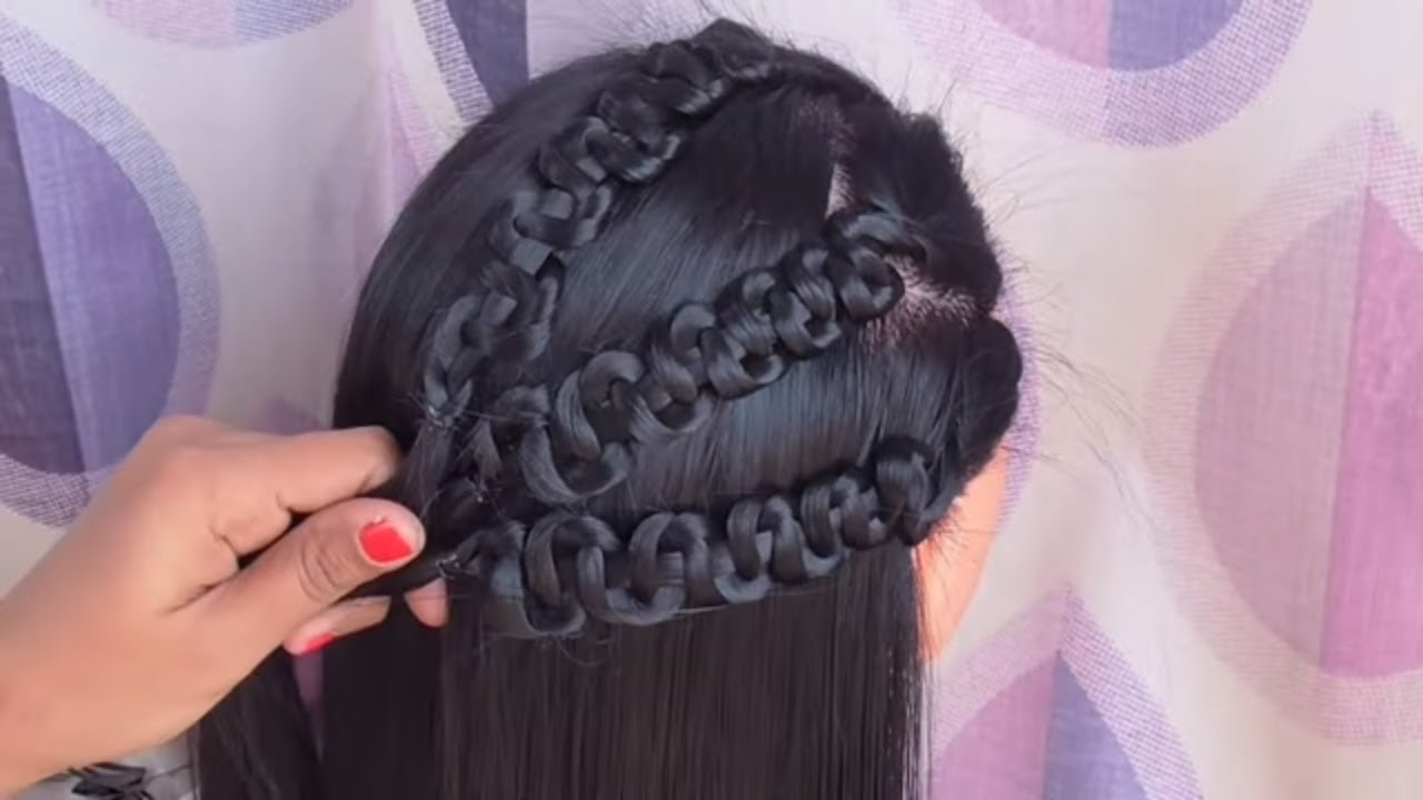 easy party wear hairstyles || easy hairstyles for party and occasion