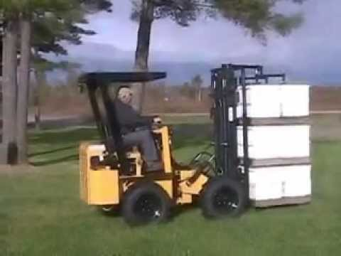 Hummerbee Turbo Rough Terrain Articulating Forklift Youtube