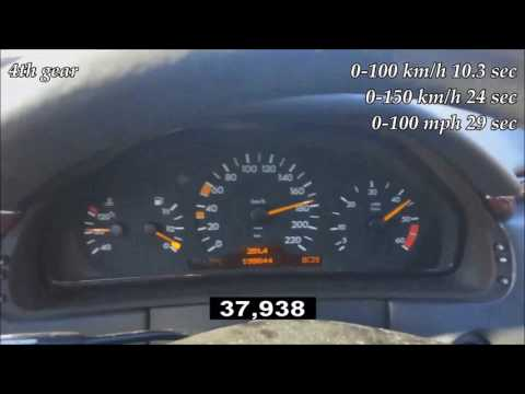 1996 Mercedes-Benz E 300 Diesel W210 136 Hp Automatic 0-190 Km/acceleration/разгон