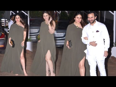 Pregnant Kareena Kapoor Looking So HOT With Saif Ali Khan After A Late Night Party