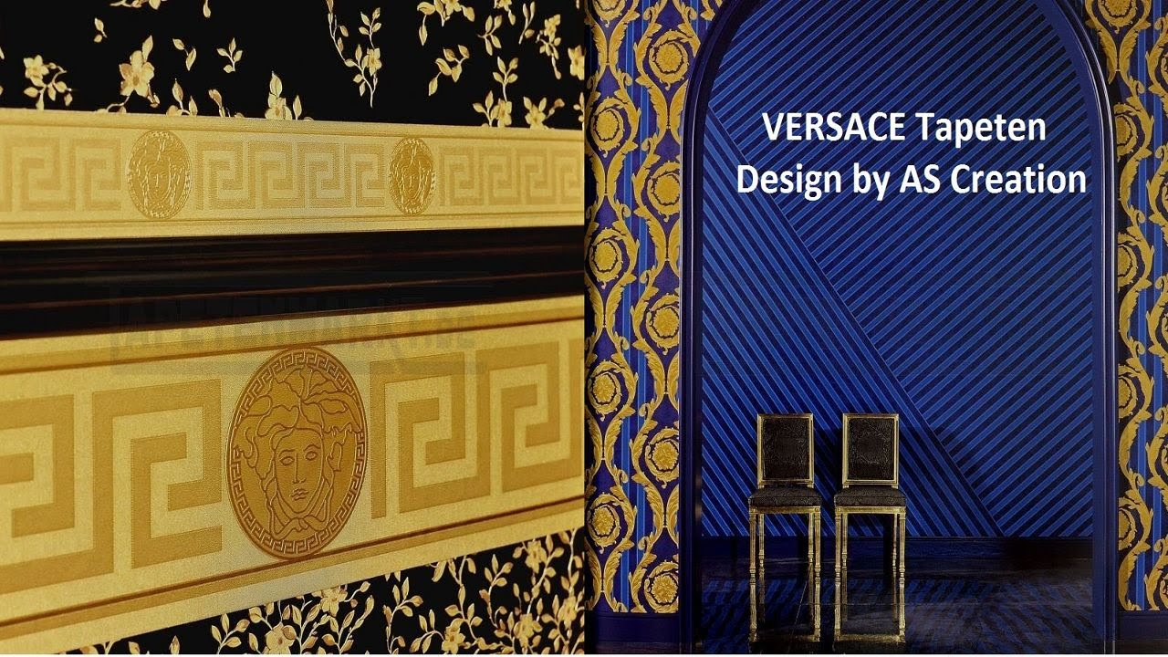 versace tapeten in bild und ton youtube. Black Bedroom Furniture Sets. Home Design Ideas