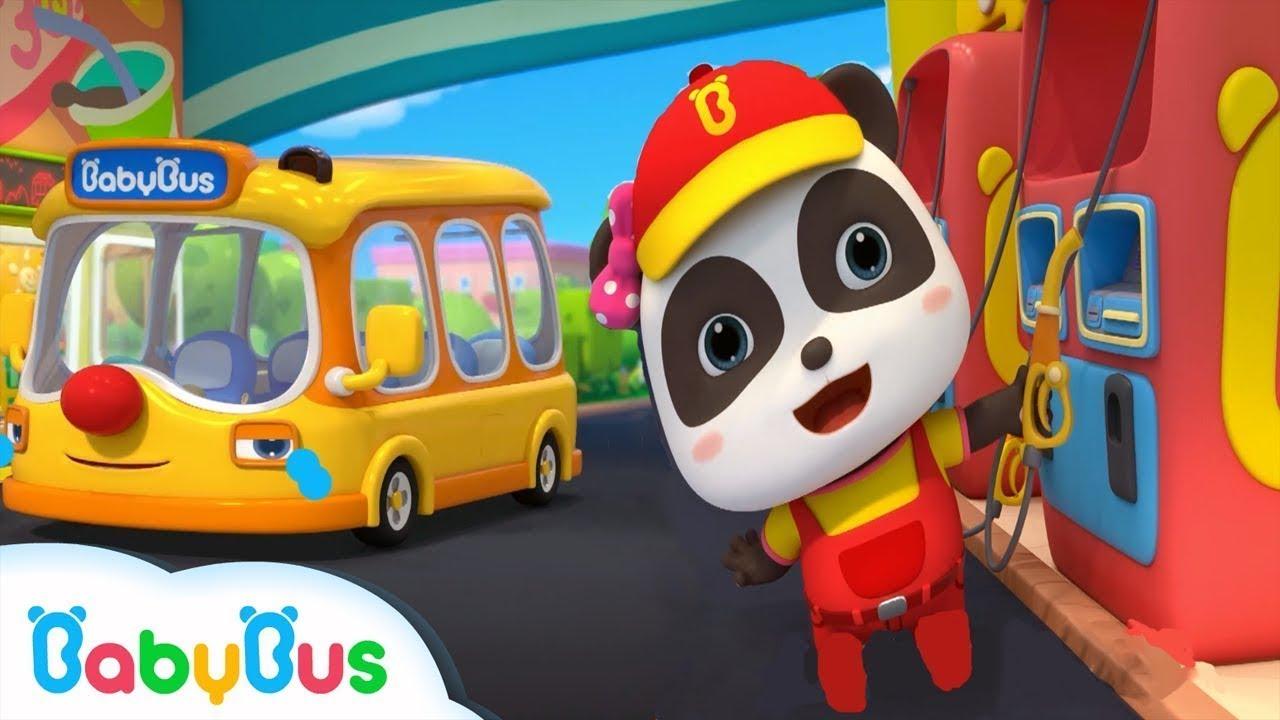 Bayi Panda Menjadi Pelayan Pom Bensin | Karir Bayi Panda | Lagu Anak-anak | BabyBus Bahasa Indonesia