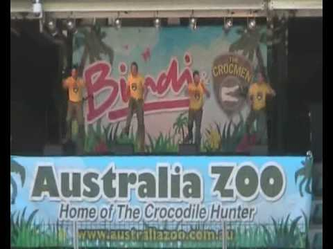 "Crocmen perform ""Bindi The Jungle Girl"" at Australia Zoo"