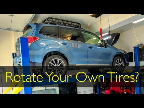 2017 Subaru Forester Xt Easy Tire Rotation Youtube