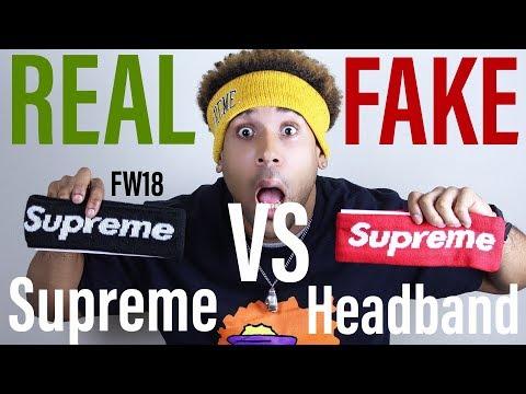 SUPREME HEADBAND REAL VS FAKE **BOTH IN HAND** - YouTube