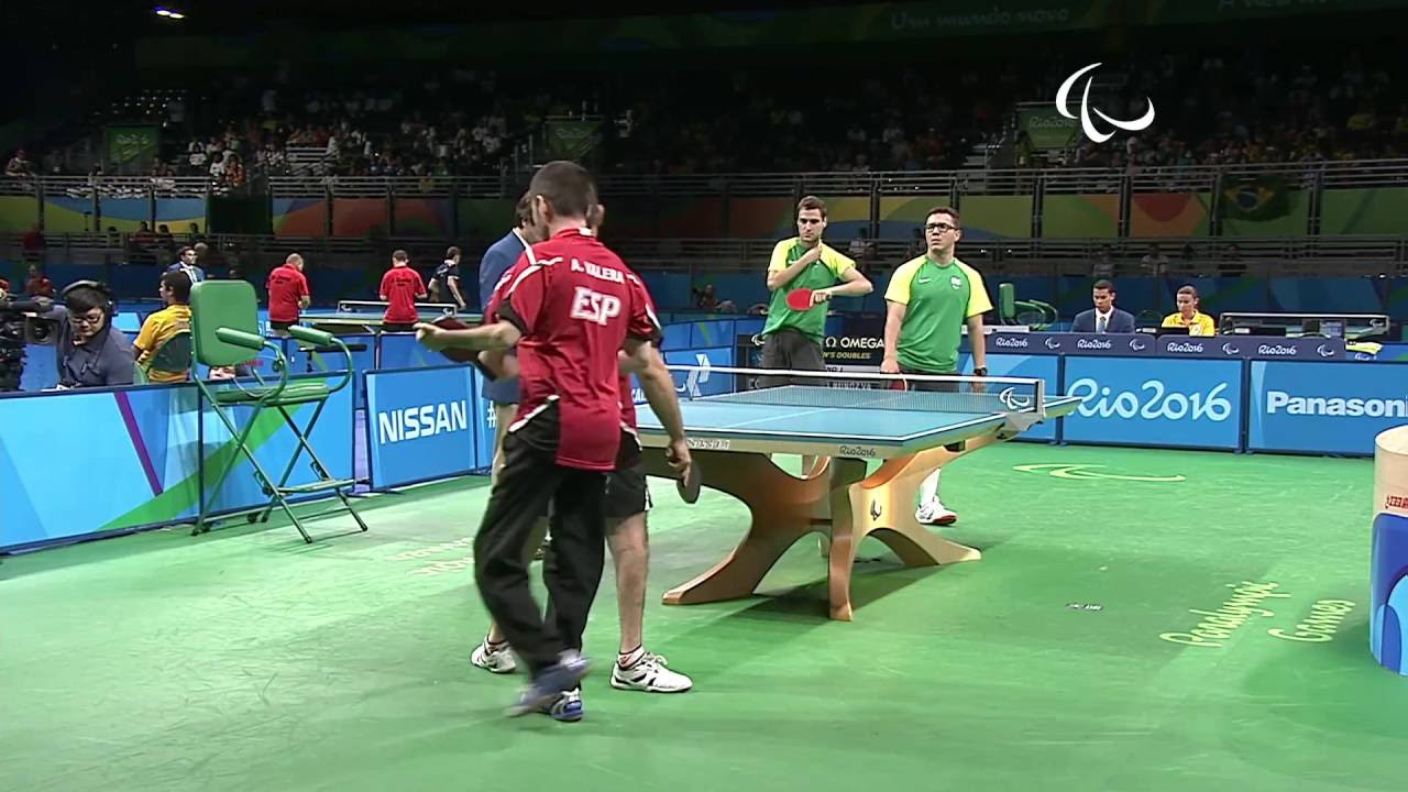 Table tennis spain v brazil men 39 s singles class 6 8 - Tennis de table poitou charente ...