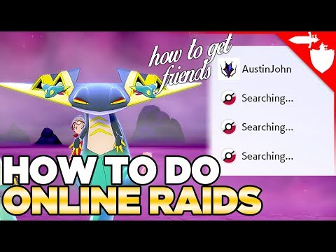 How to Do Online Raids in Pokemon Sword and Shield | Friend Code Swap Video