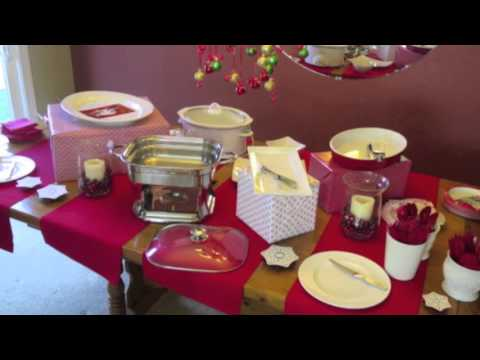 How To Set Up A Christmas Buffet Youtube
