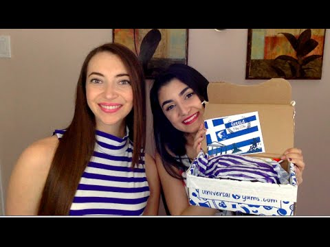 Canadians Try Greek Candy 2 - Universal Yums Unboxing