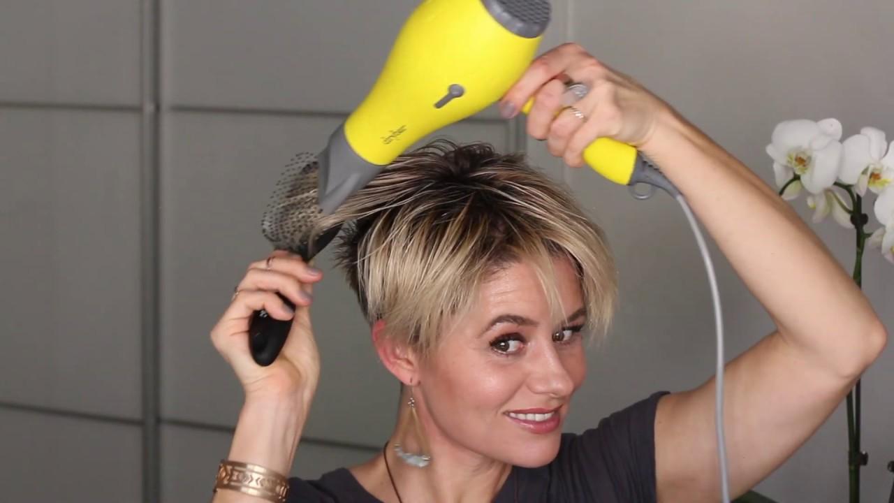 Short Hair Tutorial How To Create A Shaggy Pixie Hairstyle Youtube