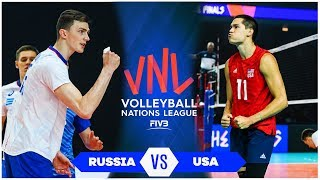 Russia vs USA | Gold Medal Match | Highlights | Men's VNL 2019 (HD)