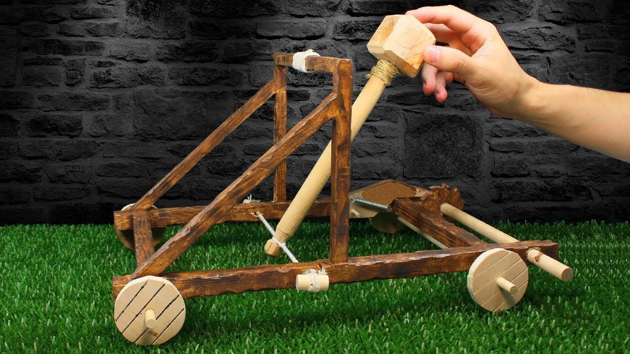C mo hacer una catapulta casera youtube for Crear una cubierta de madera