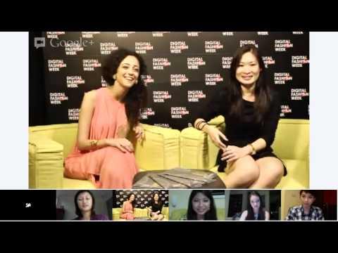 Google+ Hangout with Singaporean Designer Pauline Lim - #DigitalFashionWeek Singapore 2012