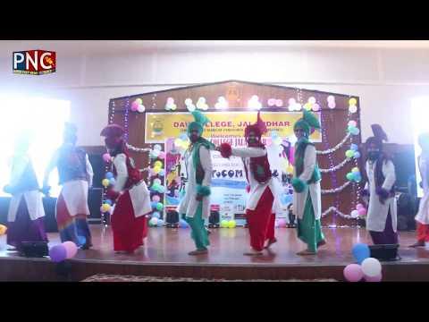 DAV College Jalandhar Bhangra 2018 | Punjab News Channel