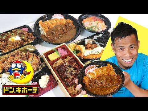 Top 7 Japanese Food Bento to buy at Don Quijote | Mega Chicken Katsu Curry