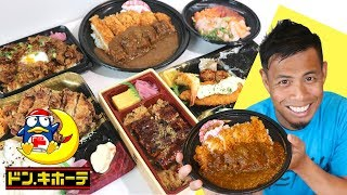 Top 7 Japanese Food Bento to buy at Don Quijote | Mega Chicken Katsu Curry
