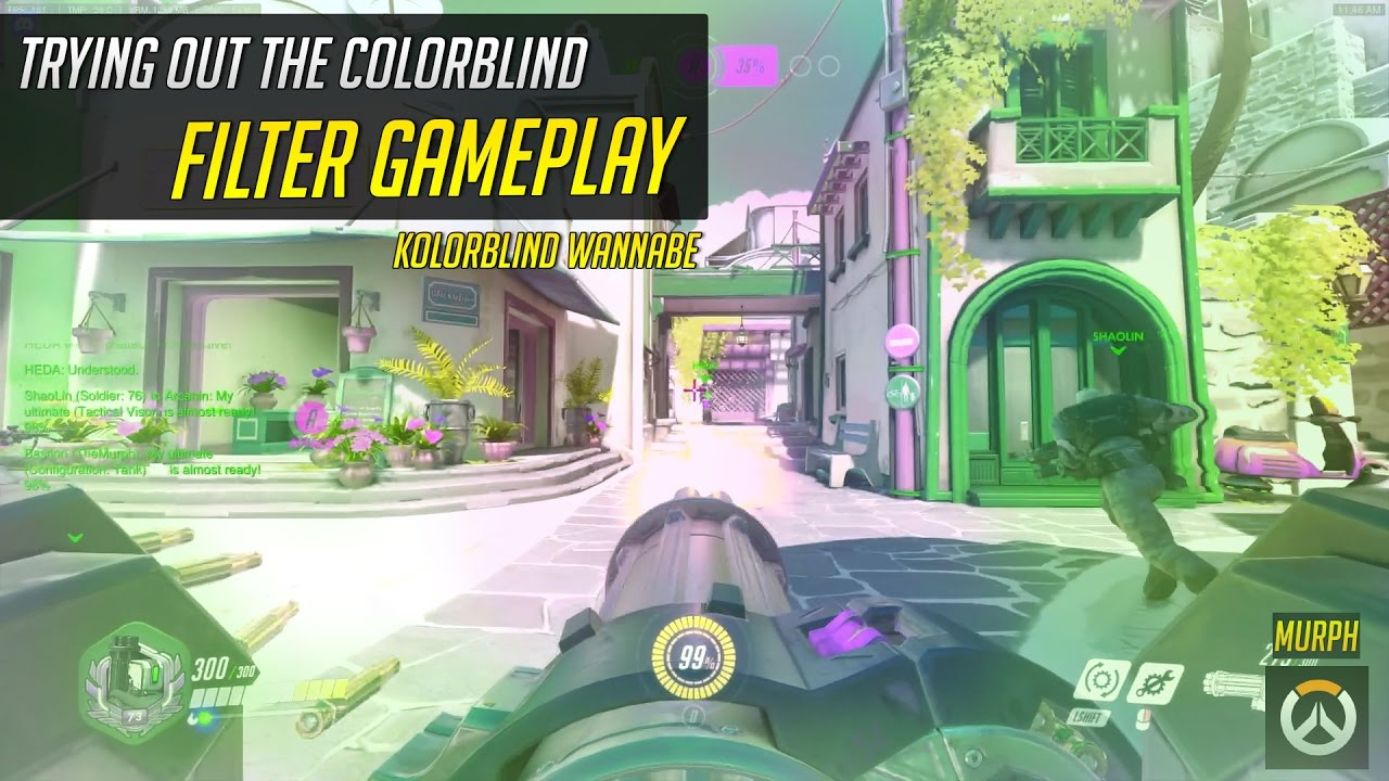 Games for colorblind - Overwatch Trying To Be Like Kolorblind Color Blind Filter Gameplay