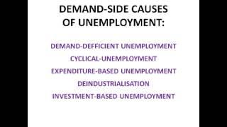 Employment and Unemployment - Economics AS Level Unit 2