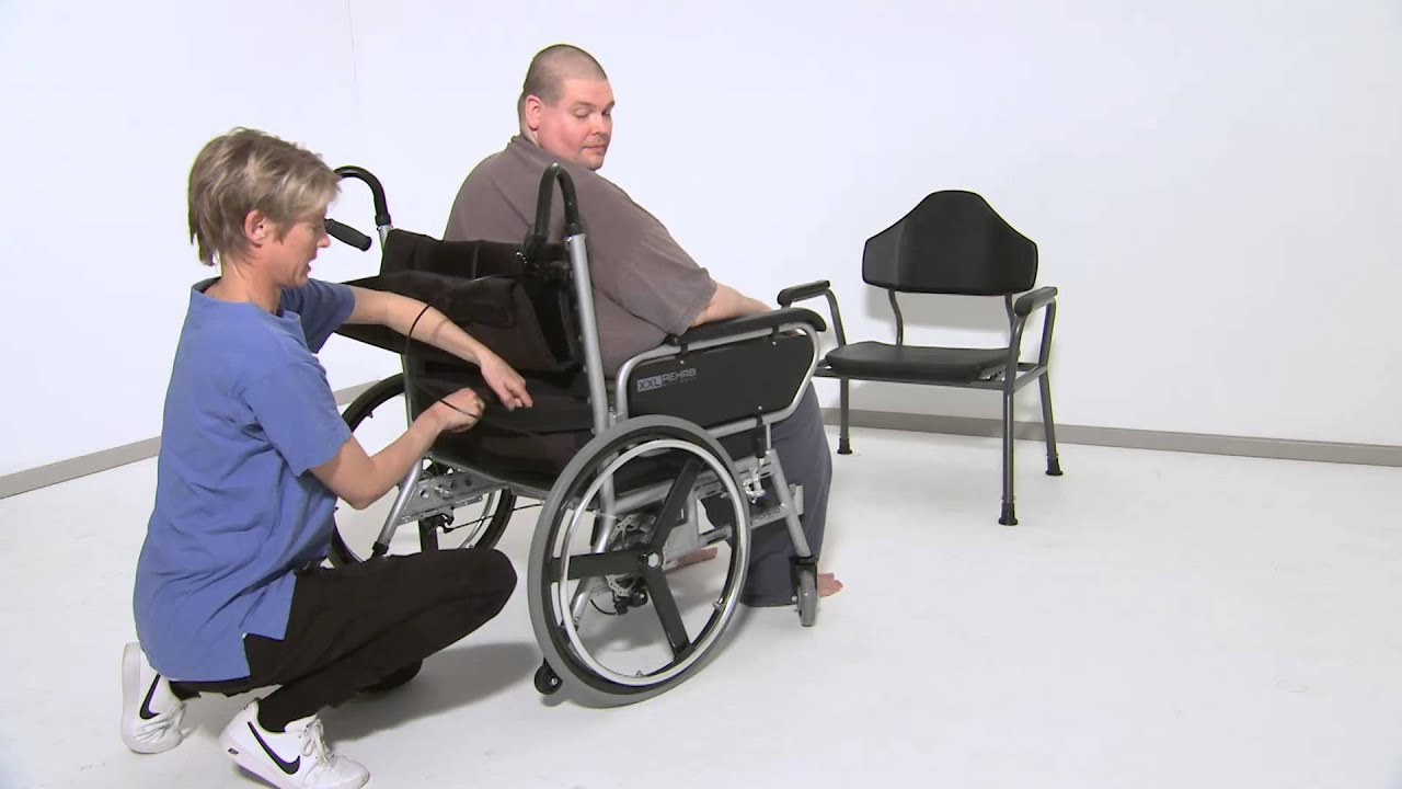 XXL-Rehab Minimaxx -- Folding Wheelchair