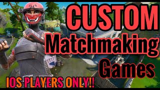 Fortnite Mobile Customs! IPhone/IPad players only! NAE/NAW | IPhone 8 Plus | Like Goal -100