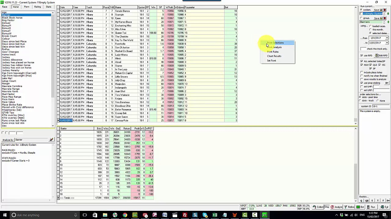 Horse Racing Data Modelling with GTX
