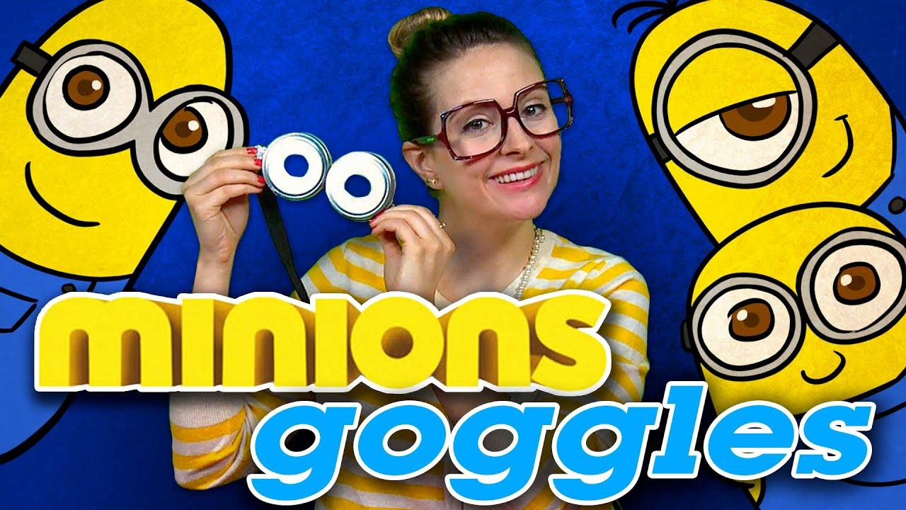 Minion Crafts Part - 48: DIY Minions Goggles - Minions Crafts | Cool School Crafts With Crafty Carol  - YouTube