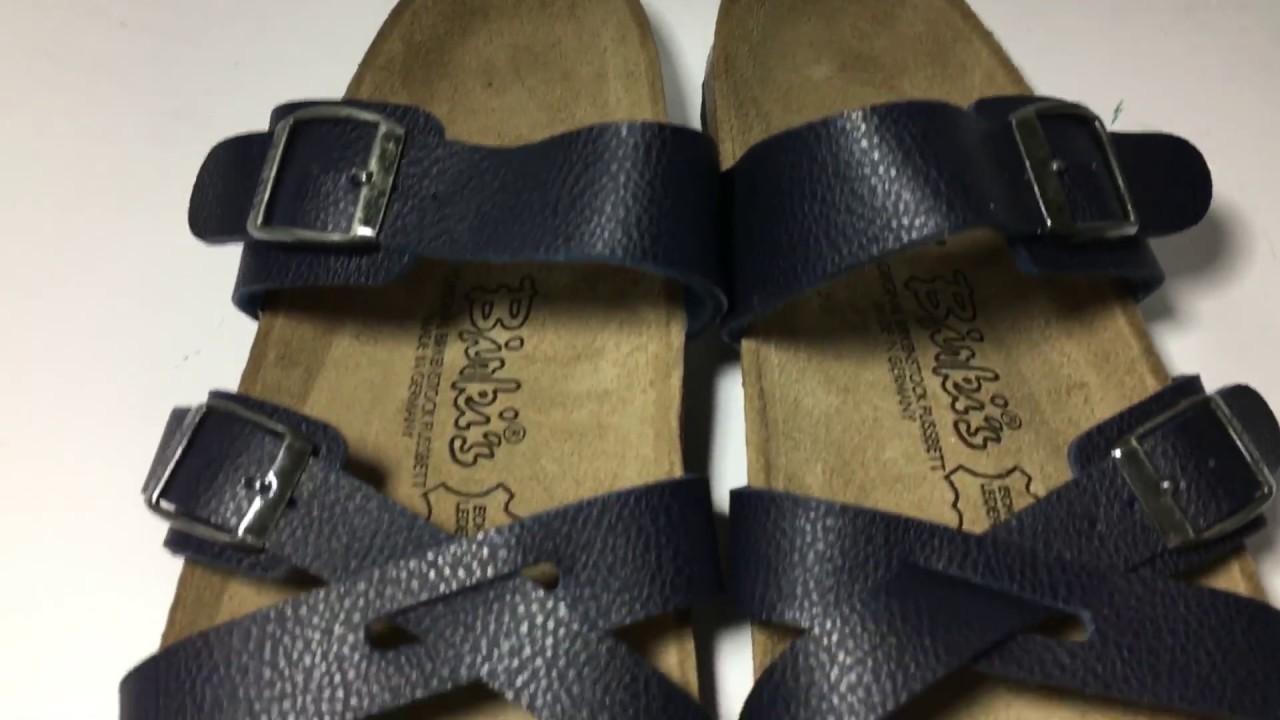 cc7a2ec81d73 BIRKENSTOCK Arizona Stone Leather Slides Sandals 265 Size 41 US L10 M8 New