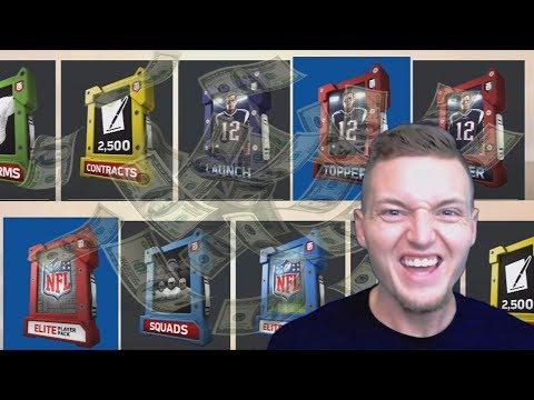 OVER $200 IN PACKS! GOAT Packs, Fantasy Packs, GUARANTEED ELITE PACKS & Launch Packs! MADDEN 18