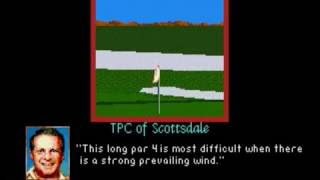 PGA Tour Golf II (SMD) TPC of Scottsdale fly by hole previews