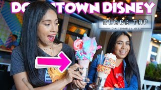 NEW! Check Out These CRAZY Shakes at DownTown Disney | Black Tap Restaurant