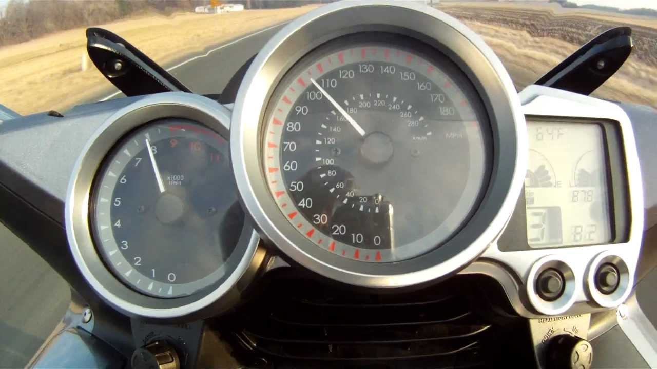 Yamaha FJR Top Speed Run - YouTube