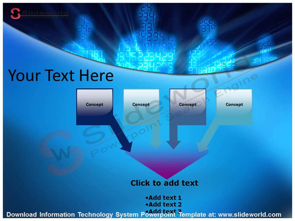 information technology system powerpoint template - youtube, Modern powerpoint