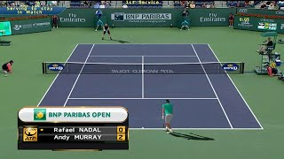 Tennis Elbow 2013 Indian Wells 2015 - Rafael Nadal vs Andy Murray GAMEPLAY 2015