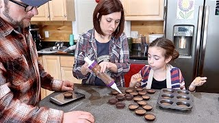 Farm Family attempts to make Gourmet Reese Peanut Butter Cups