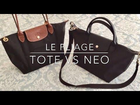Longchamp Le Pliage Tote Bag Vs Neo Top