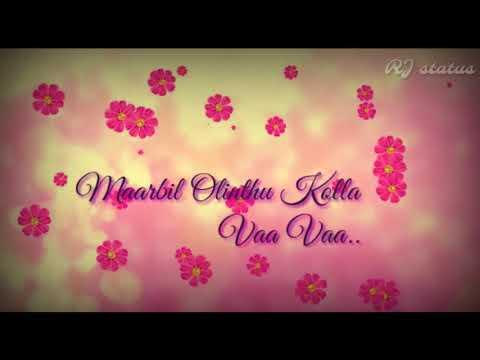 Tamik whatsapp status | malargale malargale song lyrics | Kathalan | RJ status