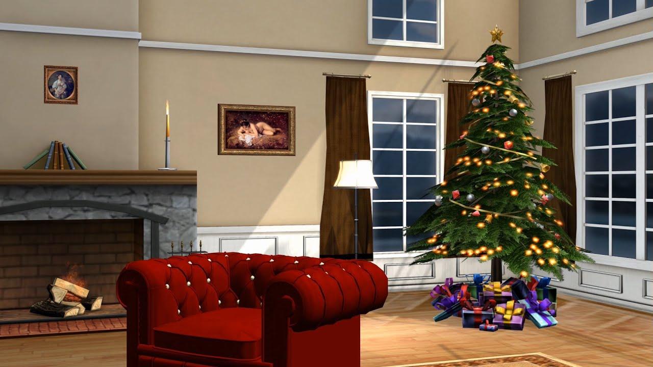 christmas room - living room - royalty Free Green Screen ...
