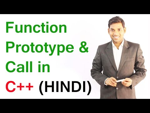 Function Prototype and Call in C++ (HINDI)