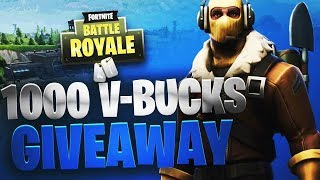 1000 V-BUCKS GIVEAWAY & WINS GRINDEN! // FORTNITE BATTLE ROYALE // 902 WINS // NEDERLANDS