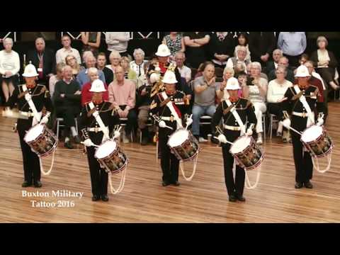 Buxton Military Tattoo 2016 - HM Royal Marines Band - Drum Display