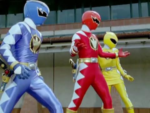Power Rangers Dino Thunder - Power Rangers vs Evil White Ranger (First  Battle)